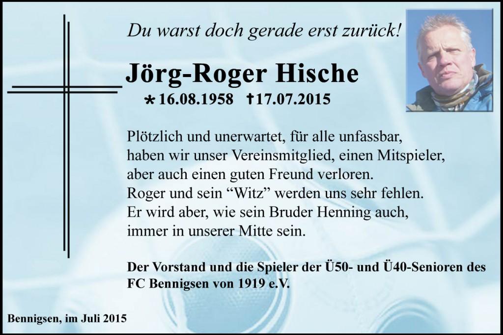 Abschied Jörg-Roger Hische