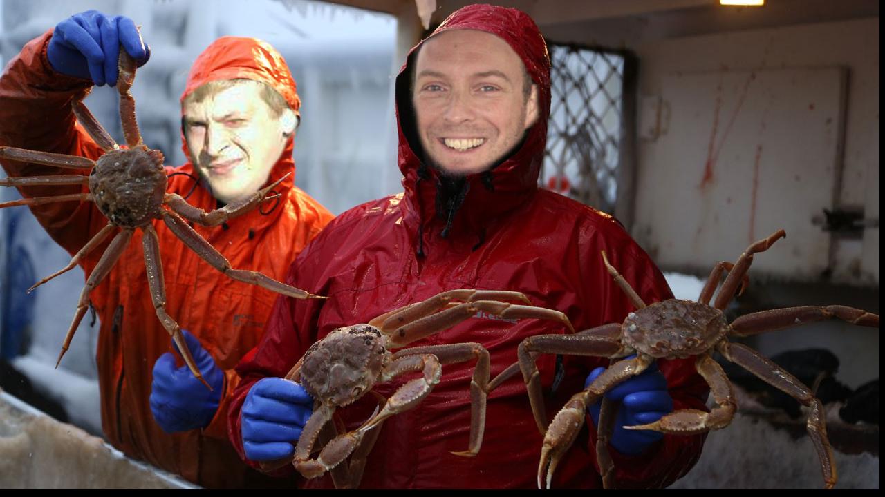Georg und Holger als Krabbenfischer